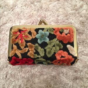 Vintage Fuzzy Floral Lipstick Case Made in Japan